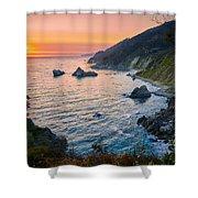 Big Sur Evening Shower Curtain