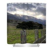 Big Sur Fence Line Shower Curtain