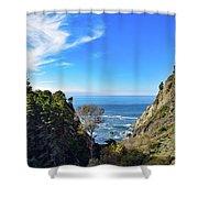 Big Sur Partington Cove Shower Curtain