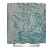 Big Tall Sail Shower Curtain