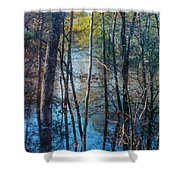 Big Thicket Water Reflection Shower Curtain