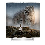 Big Tiger Shower Curtain