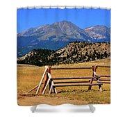 Big Timber Canyon Shower Curtain