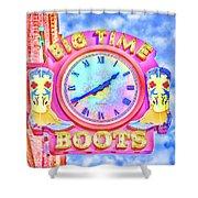 Big Time Boots - Nashville Hot Pink Shower Curtain