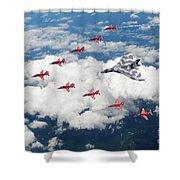 Big V Formation Shower Curtain