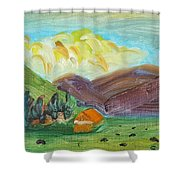 Big Valley Shower Curtain