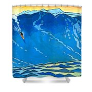 Big Wave Shower Curtain by Douglas Simonson