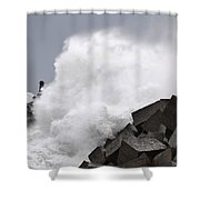 Big Waves II Shower Curtain