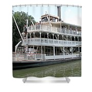 Big Wheel Boat Shower Curtain