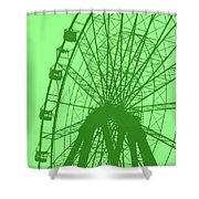 Big Wheel Green Shower Curtain