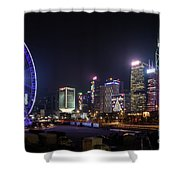 Big Wheel In Hong Kong Central Shower Curtain