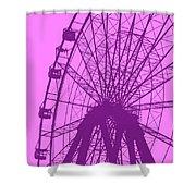 Big Wheel Purple Shower Curtain