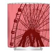 Big Wheel Red Shower Curtain