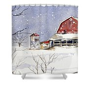 Big White Horse Shower Curtain