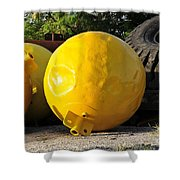 Big Yellow Balls Shower Curtain