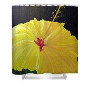 Big Yellow Hibiscus Shower Curtain