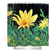 Big Yellow Shower Curtain