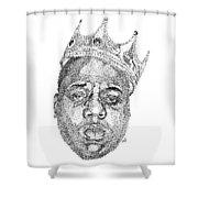Biggie  Shower Curtain