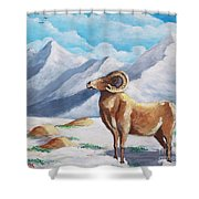 Bighorn Kam Shower Curtain