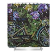 Bike And Bush Shower Curtain