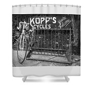 Bike At Kopp's Cycles Shop In Princeton Shower Curtain