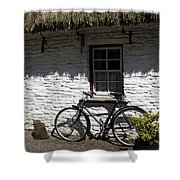 Bike At The Window County Clare Ireland Shower Curtain