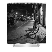 Bike Between Lights And Shadows, Netherlands Shower Curtain
