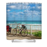 Bike Break At The Beach Shower Curtain