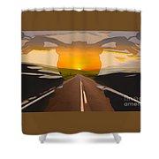 Bike Canyon Highway Shower Curtain