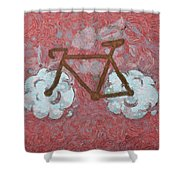 Bike-cloud Red - Da Shower Curtain