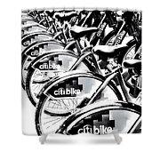 Bike Fleet Shower Curtain
