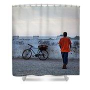 Bike In Essaouira Shower Curtain