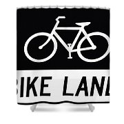 Bike Lane Shower Curtain