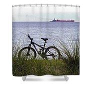 Bike On The Bay Shower Curtain