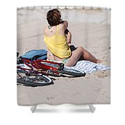 Bike On The Beach Shower Curtain