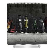 Bike Rack Shower Curtain