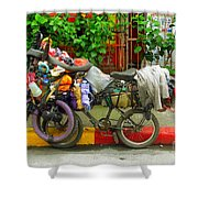 Bike Repair Shop On Wheels Shower Curtain