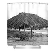 Bike Sale At The Windnasea Shack In La Jolla. Shower Curtain