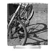 Bike Shadow Shower Curtain