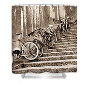 Bike Stairs Zurich Shower Curtain