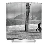 Biker In Ipanema Shower Curtain