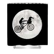 Biker Of The Moon Shower Curtain