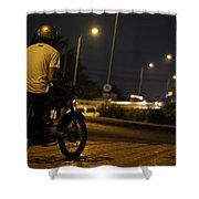 Biker Shower Curtain