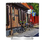 Bikes And Flags Shower Curtain
