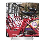 Bikes For Rent Shower Curtain