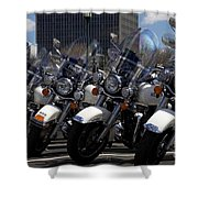 Bikes In Blue Shower Curtain
