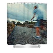 Bikes In Motion Near Durrow 1 Shower Curtain