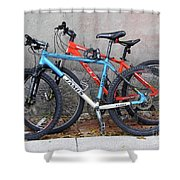 Bikes Left Alone Shower Curtain