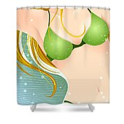Bikini Blonde Shower Curtain