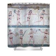 Bikini Girls Mosaic Shower Curtain